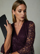 SD Collection - Sequin Lace Dress, Purple, hi-res