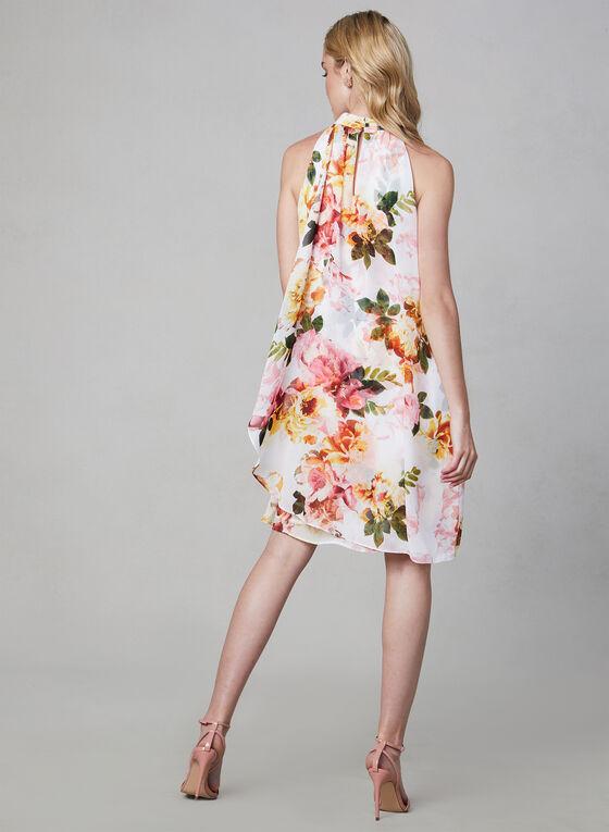 Robe à fleurs sans manches, Blanc, hi-res