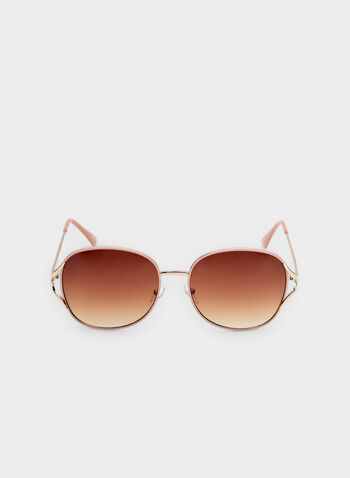 Round Sunglasses, Pink,  wire frames, spring 2019