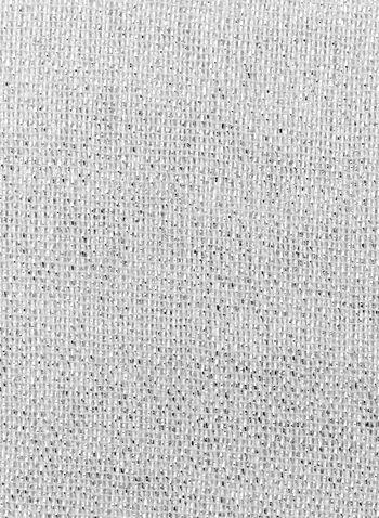 Écharpe pashmina métallique à franges, Argent, hi-res