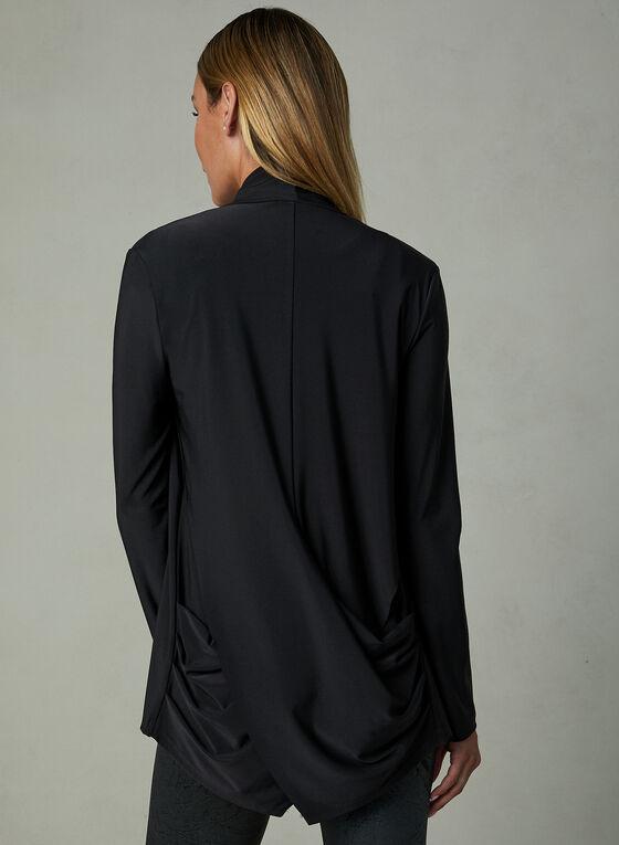 Compli K - Open Front Cardigan, Black, hi-res
