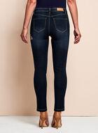 Embroidered Slim Leg Jeans, Blue, hi-res