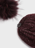 Cable Knit Pom-Pom Hat, Red, hi-res