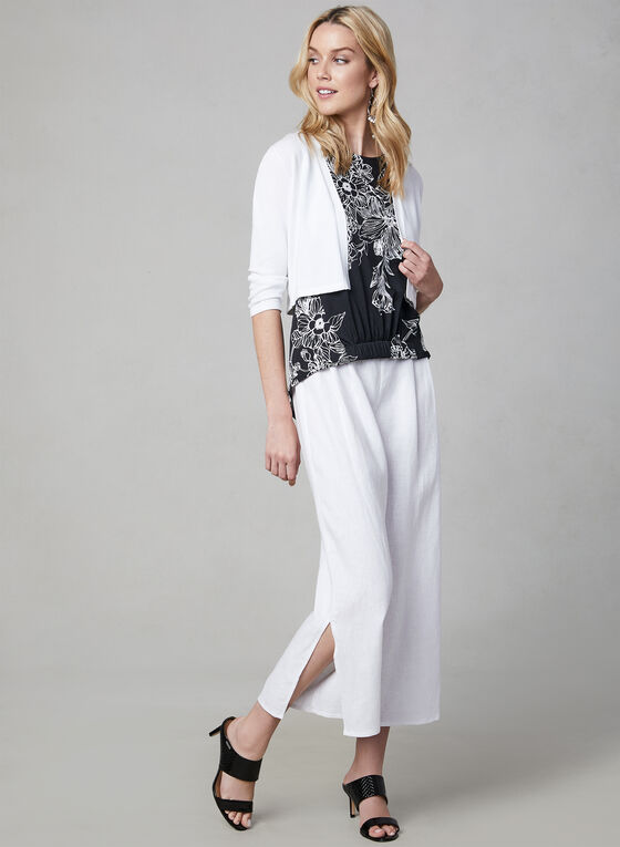 Vince Camuto - Linen Culottes, White, hi-res