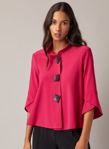 Joseph Ribkoff - Tulip Sleeve Jacket, Red,  jacket, tulip sleeve, 3 buttons, jersey, fall winter 2020