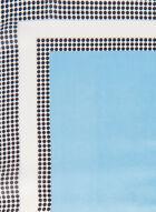 Foulard carré à pois, Bleu