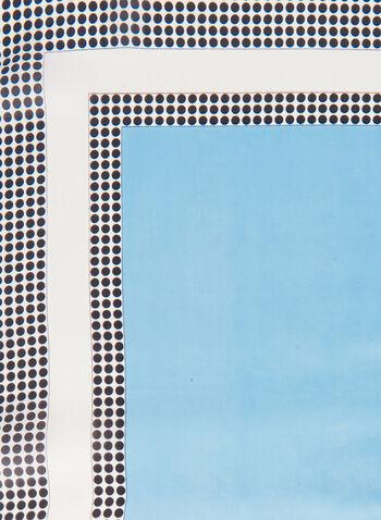 Foulard carré à pois, Bleu,  foulard, carré, pois, bordure, printemps été 2020