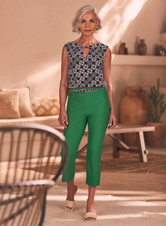 Slim Leg Pull-On Capris, Green
