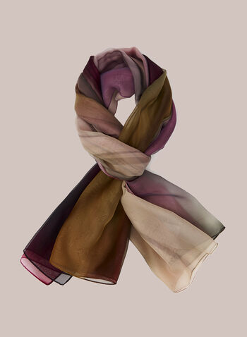 Abstract Print Lightweight Scarf, Multi,  scarf, lightweight, abstract print, fall winter 2020