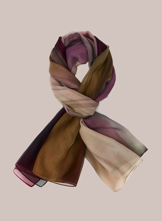 Abstract Print Lightweight Scarf, Multi