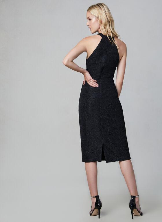 Maggy London - Robe texturée et pailletée, Noir