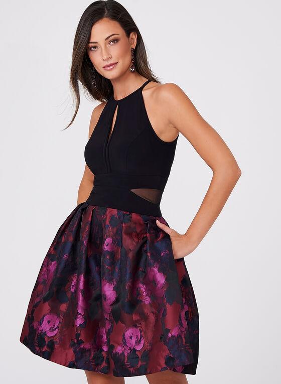BA Nites - Floral Print Cleo Neck Dress, Multi, hi-res