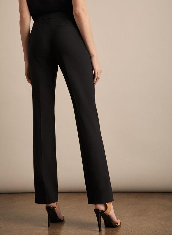 Pantalon Lauren à jambe droite, Noir