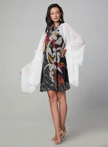 Foulard en mousseline volantée, Blanc cassé,  automne hiver 2019, foulard, mousseline, volants, fluide