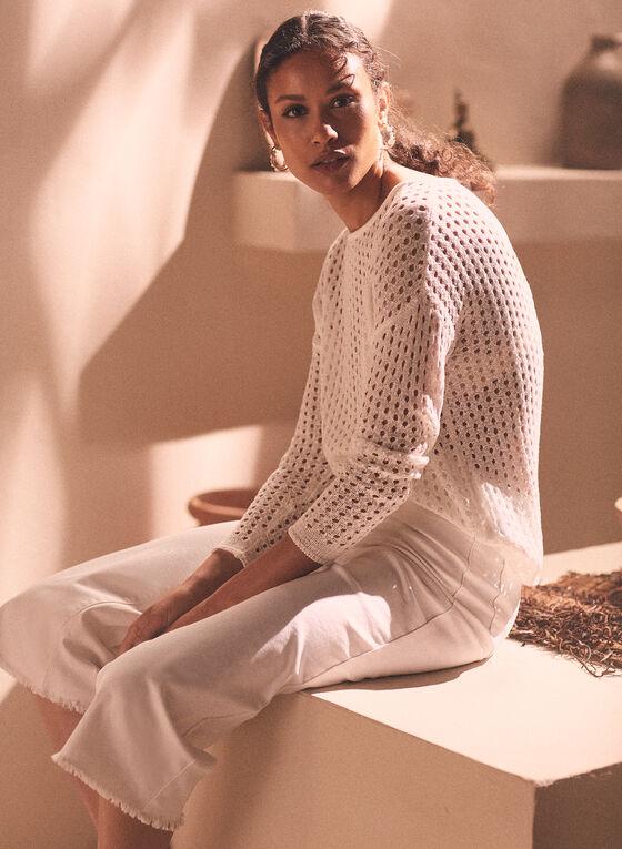 Pull en tricot translucide , Blanc