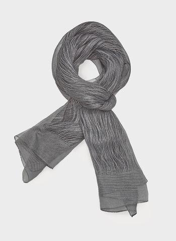 Foulard pashmina brillant, Noir, hi-res