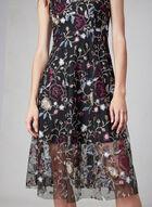 Vince Camuto - Embroidered Mesh Dress, Black, hi-res