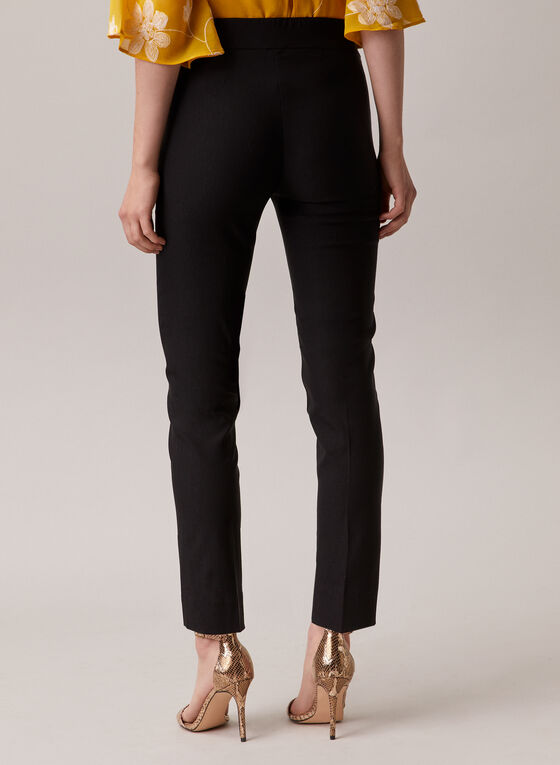 Pull-On Slim Leg Pants, Black