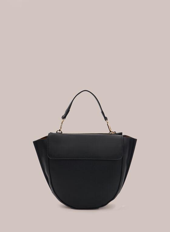 Curved Crossbody Bag, Black