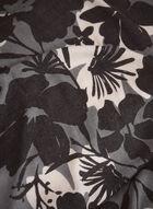 Foulard rectangulaire à motif floral, Gris