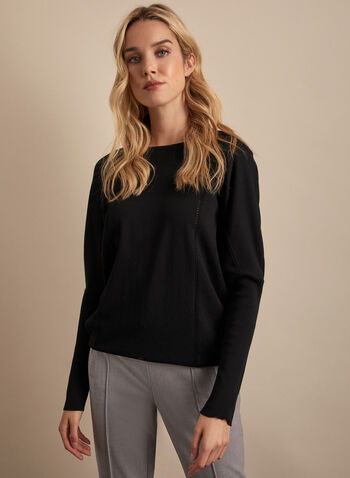 Bat Sleeve Sweater, Black,  sweater, long sleeves, knit, bat sleeves, spring top, spring 2020, summer 2020