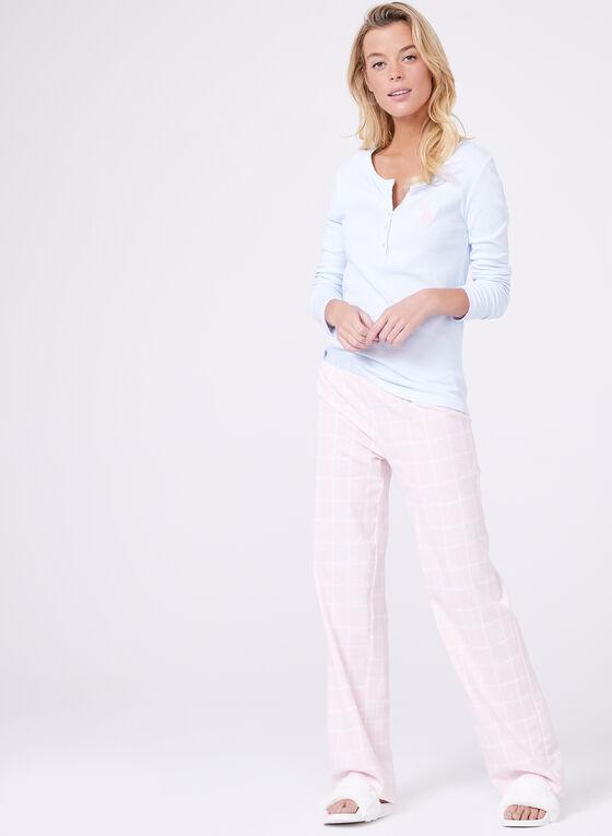 U.S. Polo Assn. - Ensemble pyjama pastel en flanelle, Bleu, hi-res