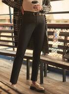 Slim Leg Coated Jeans, Black