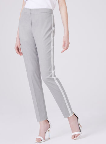 Louben - 7/8th Straight Leg Pants, Silver, hi-res