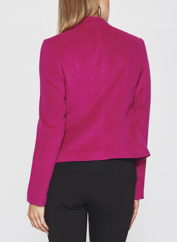 Inverted Notch Collar Blazer, Red, hi-res