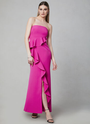 Vince Camuto - Ruffle Gown, Pink, hi-res
