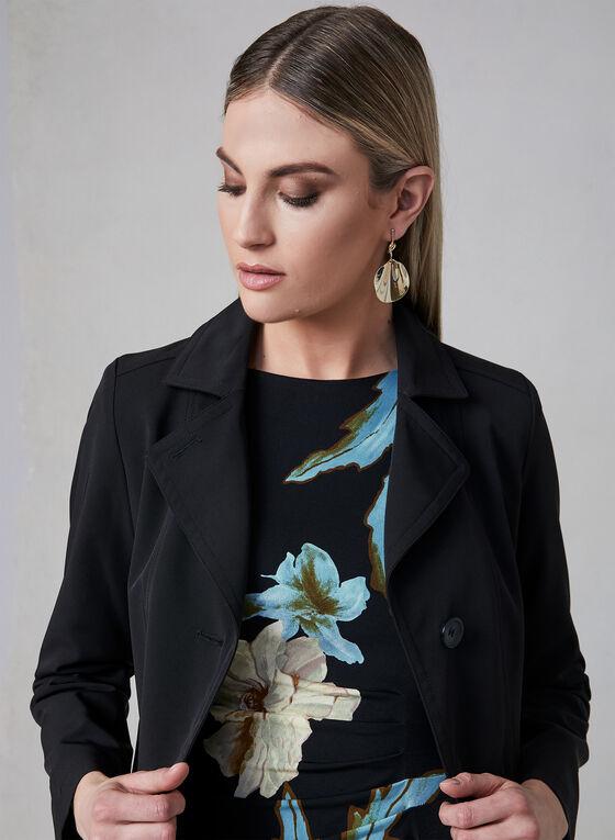 Portrait - Front Button Raincoat, Black