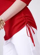 Elena Wang - Pull à col bateau et épaules dénudées, Rouge, hi-res