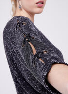 Dolman Sleeve Glitter Jersey Top, Black, hi-res