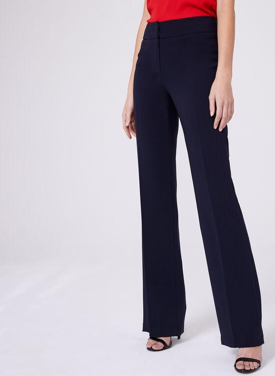 Louben - Pantalon à jambe droite , Bleu, hi-res