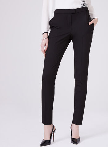 Louben - Slim Leg Pants, Black, hi-res