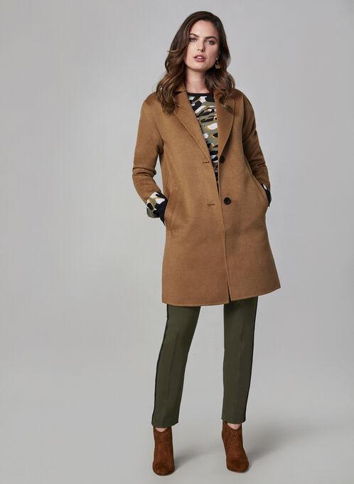Bernardo - Wool-like Overcoat, Brown, hi-res