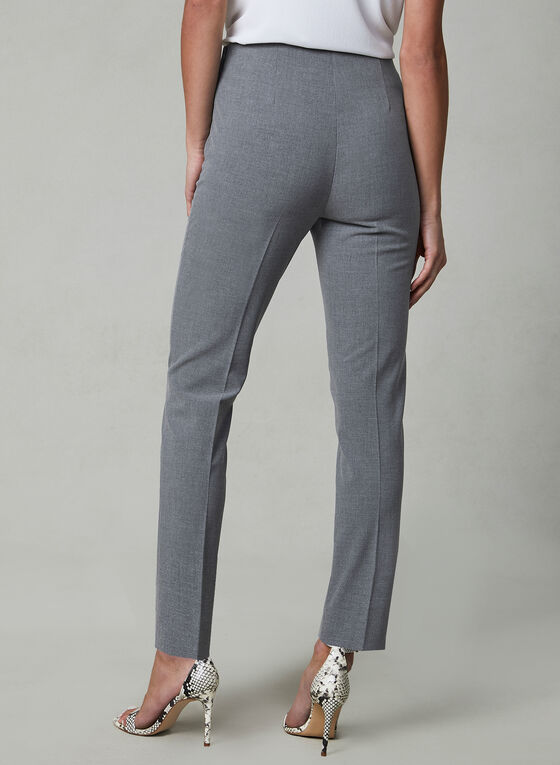 Amber Fit Slim Leg Pants, Grey, hi-res