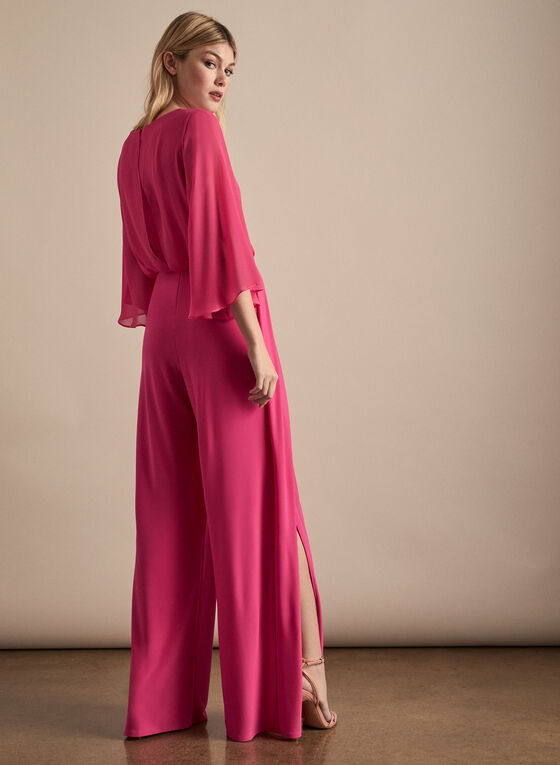 Joseph Ribkoff - Jersey & Chiffon Jumpsuit, Pink