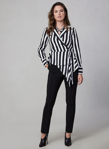 Vince Camuto - Striped Blouse, Black,  blouse, top, print, stripes, striped top, striped blouse,
