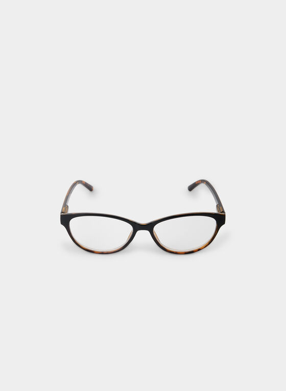Smaller Frame Eyeglasses, Brown