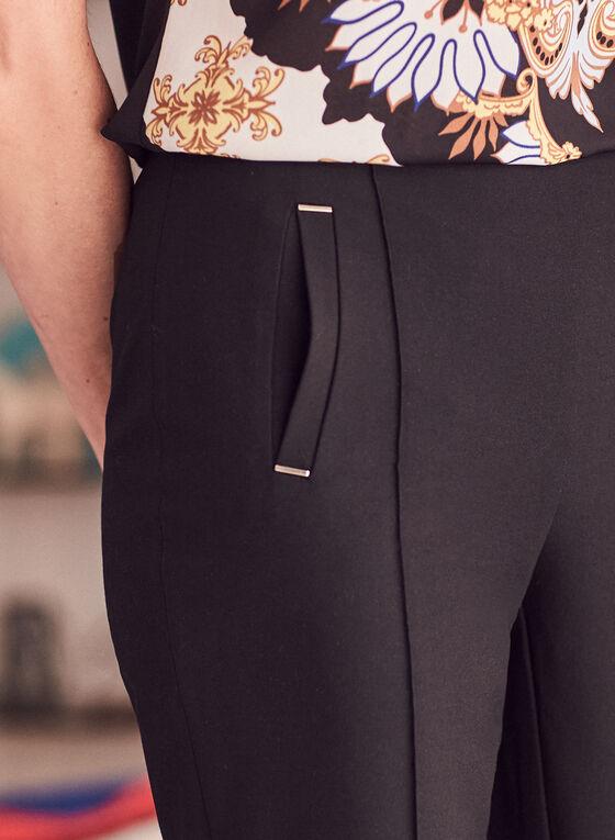 Pantalon Amber étroit à la cheville, Noir