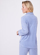 Geometric Print Pajama Set, Blue, hi-res