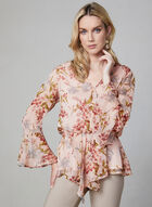 Vince Camuto - Floral Print Blouse, Red, hi-res