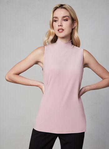 Frank Lyman - Sleeveless Turtleneck, Pink,  fall winter 2019, sleeveless, jersey, layering top, turtleneck