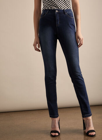 Super Soft Slim Leg Jeans, Blue,  jeans, slim leg, cotton, spring 2020