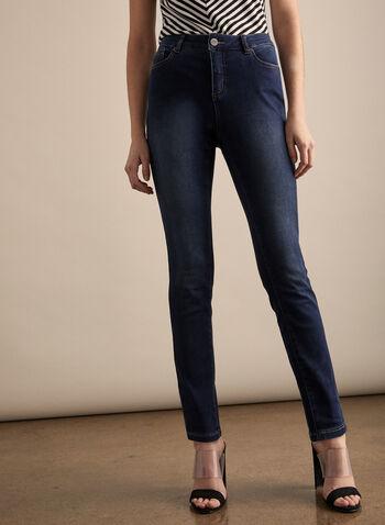 Jeans superdoux à jambe étroite, Bleu,  jeans, superdoux, jambe étroite, poches, printemps été 2020