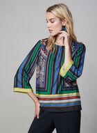3/4 Sleeve Kimono Top, Blue, hi-res