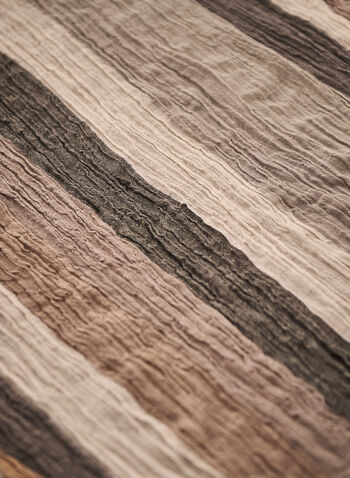 Lightweight Stripe Print Scarf, Beige,  spring summer 2021, scarves, accessory, accessories, frayed, wrinkled,
