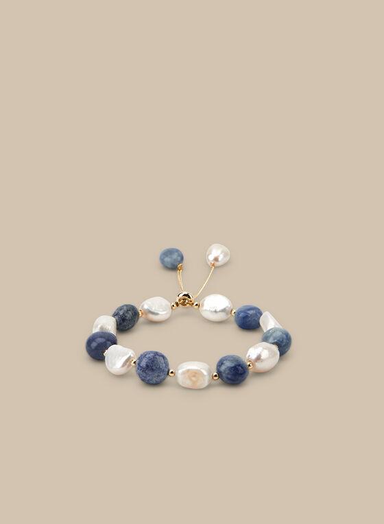 Bracelet à pierres semi-précieuses, Bleu