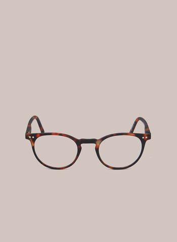 Marbled Clubmaster Reading Glasses, Brown,  glasses, reading, clubmaster, marbled, plastic, fall winter 2020